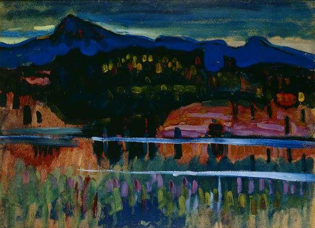 Murnau-Staffelsee I, Wassily Kandinsky, 1908, Ashmolean Museum (Oxford)