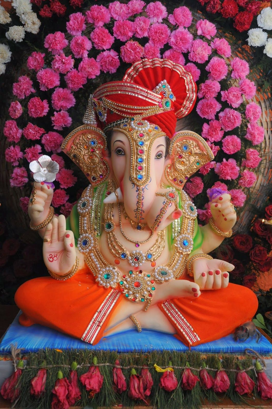 Pin by amita sharma rai on ganpati pinterest ganesh for Background decoration for ganpati