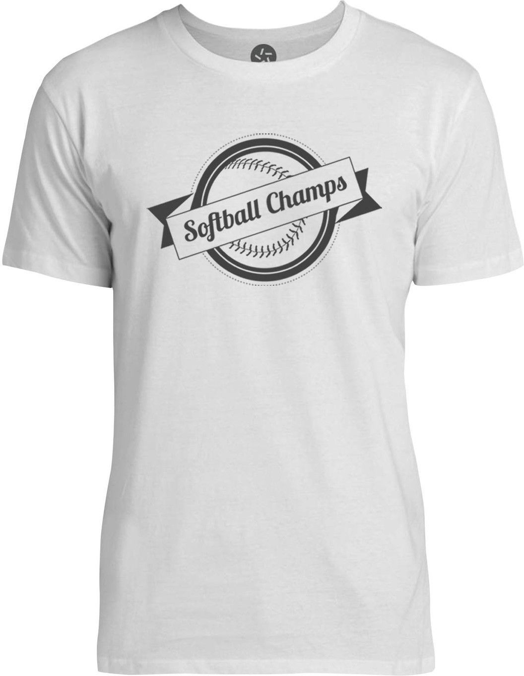 Softball Champions (Grey) Mens Fine Jersey T-Shirt