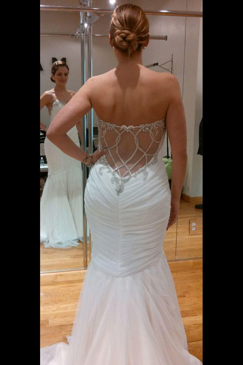 Marisa wedding dress  You canut work the bodycon trend if you are in fact overly body