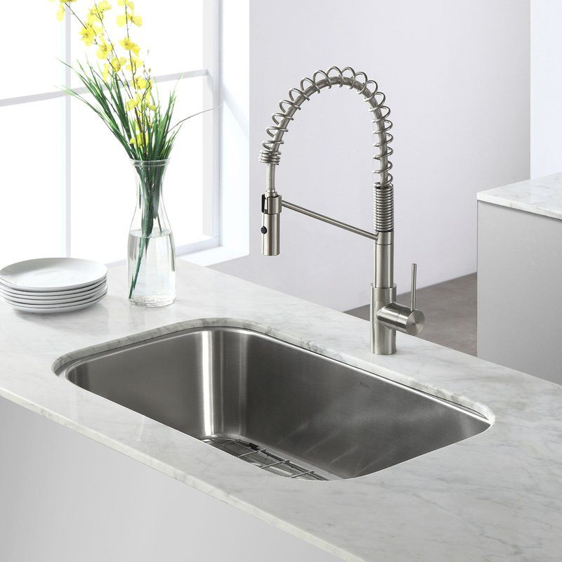 """Stainless Steel 31"""" X 19"""" Undermount Kitchen Sink With Drain Amusing Undermount Kitchen Sink Inspiration"""
