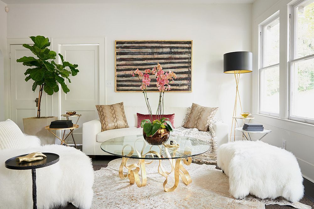 Falling For A Social Media Influencer Tony Lopez Monochromatic Living Room White Living Room Decor Classic Living Room