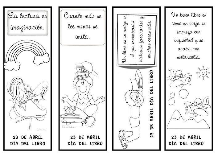 Marcapáginas para imprimir y colorear | Manualidades para niños ...