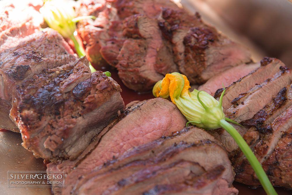 Beef Tri-Tip w/ Squash Blossoms
