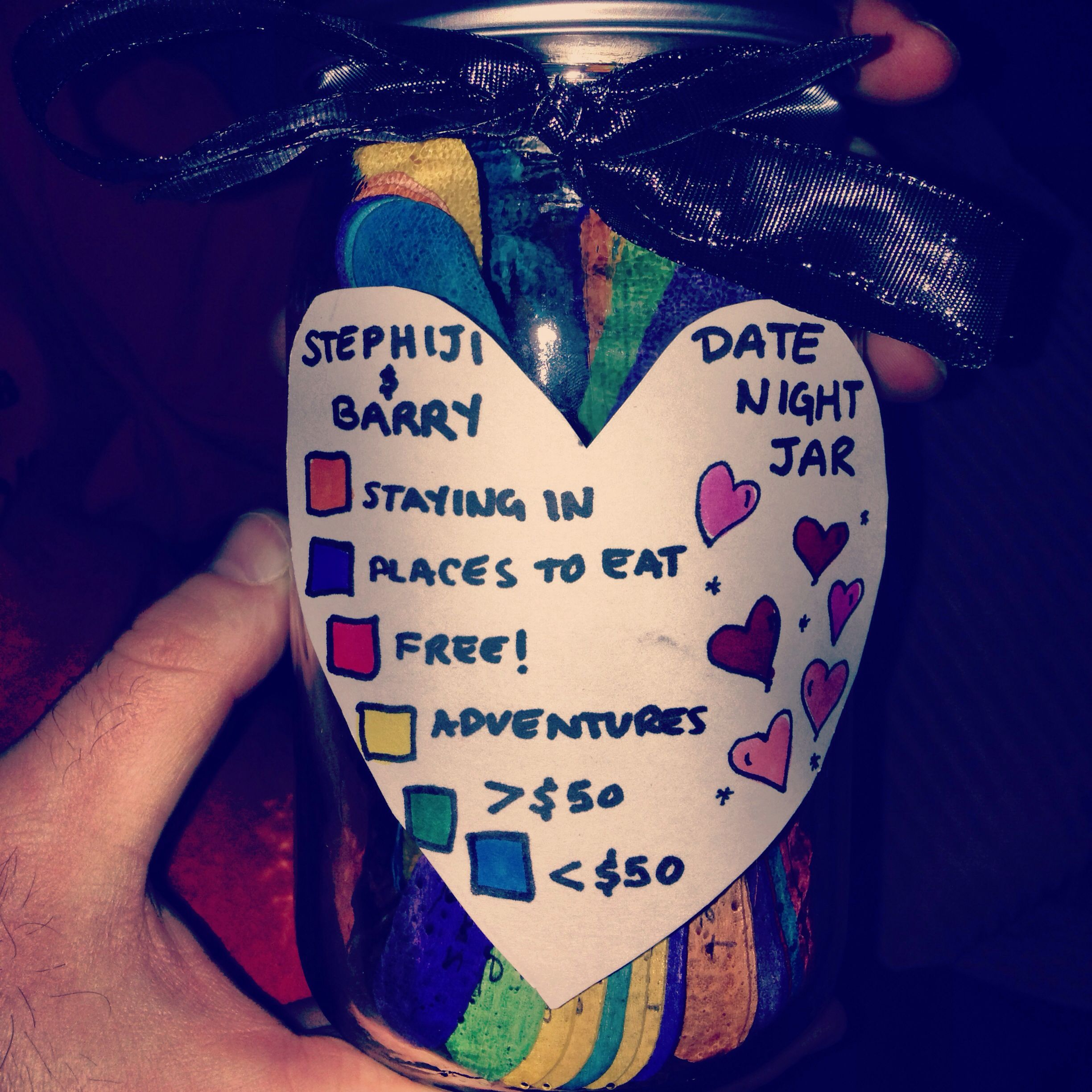Pin By Zuly Alonso On Heart Strings Cute Date Ideas Date Night Jar Gifts For Your Boyfriend