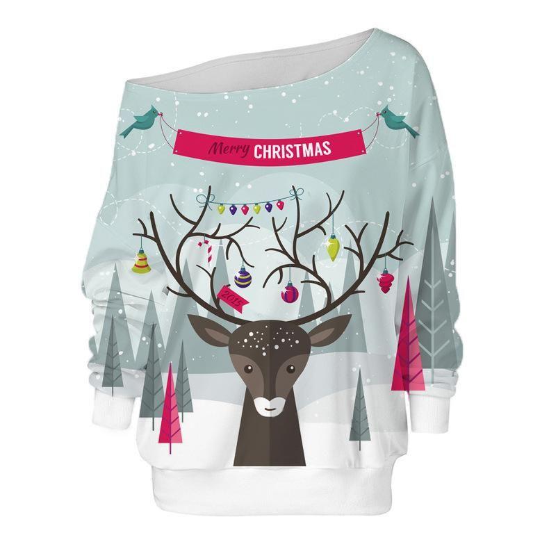 Casual Christmas Cute Reindeer Sweatshirts, Reindeer 1 / S #casualchristmasoutfitsforwomen