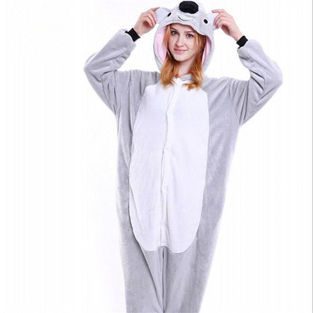 Unisex Ladies Winter Cartoon Sleepwear Pajamas Koala Animal Fancy*Costume Cozy^^