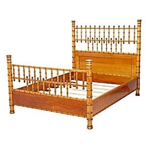 I'd love to do a guest room in my Provincetown house in this late 19th century faux-bamboo furniture.