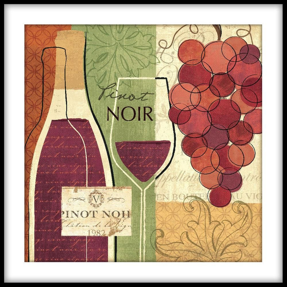 Ptm Images 13 75 In X 13 75 In Wine Making Crop Framed Wall Art 1 77784 The Home Depot In 2020 Wine Art Great Big Canvas Framed Wall Art