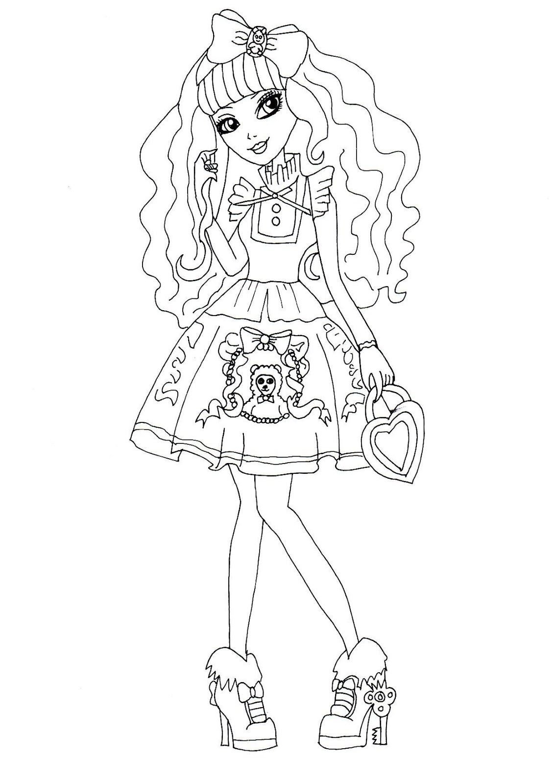 Drawing pages on computer - Free Printable Ever After High Coloring Pages Blondie Lockes
