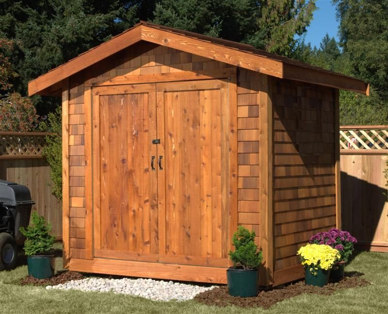 What really sets the 6x6 cedar shed kit apart is the for Garden shed 6x6