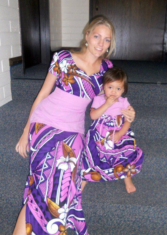 Matching mother daughter puletasi #samoa | Mom <3 Daughter ...