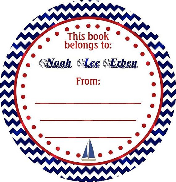 Nautical Labels, Nautical Stickers, Nautical Baby Shower
