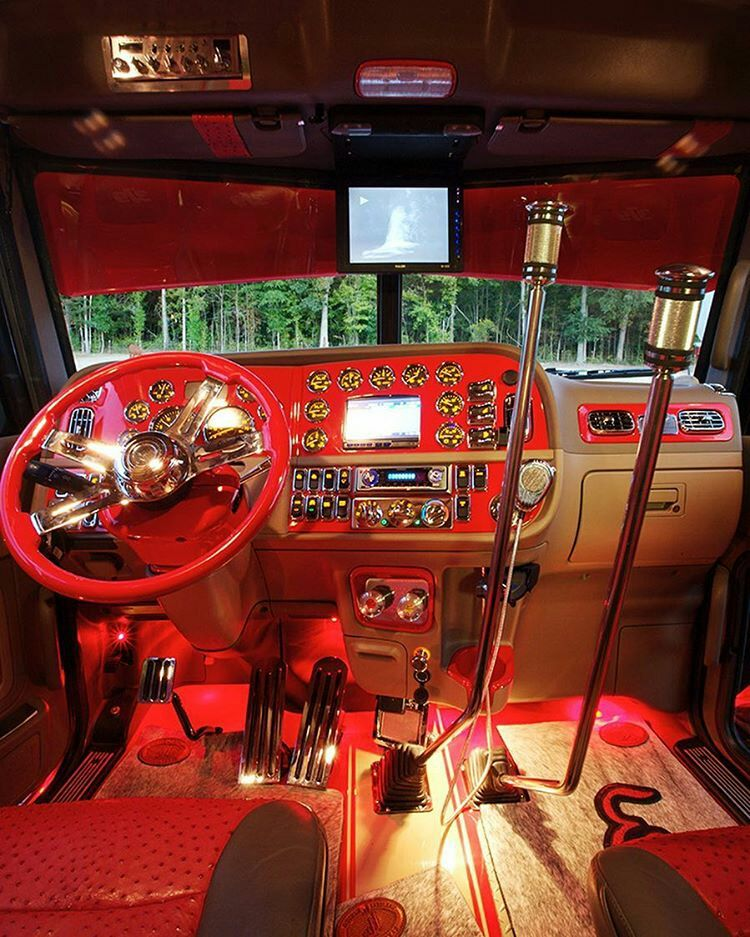 Peterbilt custom 379 interior semi trucks interiors - Peterbilt 379 interior accessories ...