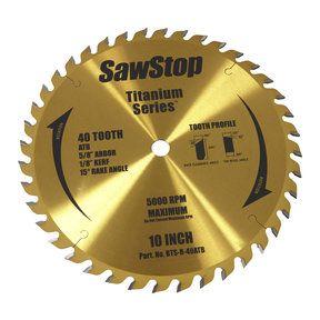 Sawstop Titanium Series 40t Combination Blade Circular Saw Blades Saw Blade Blade