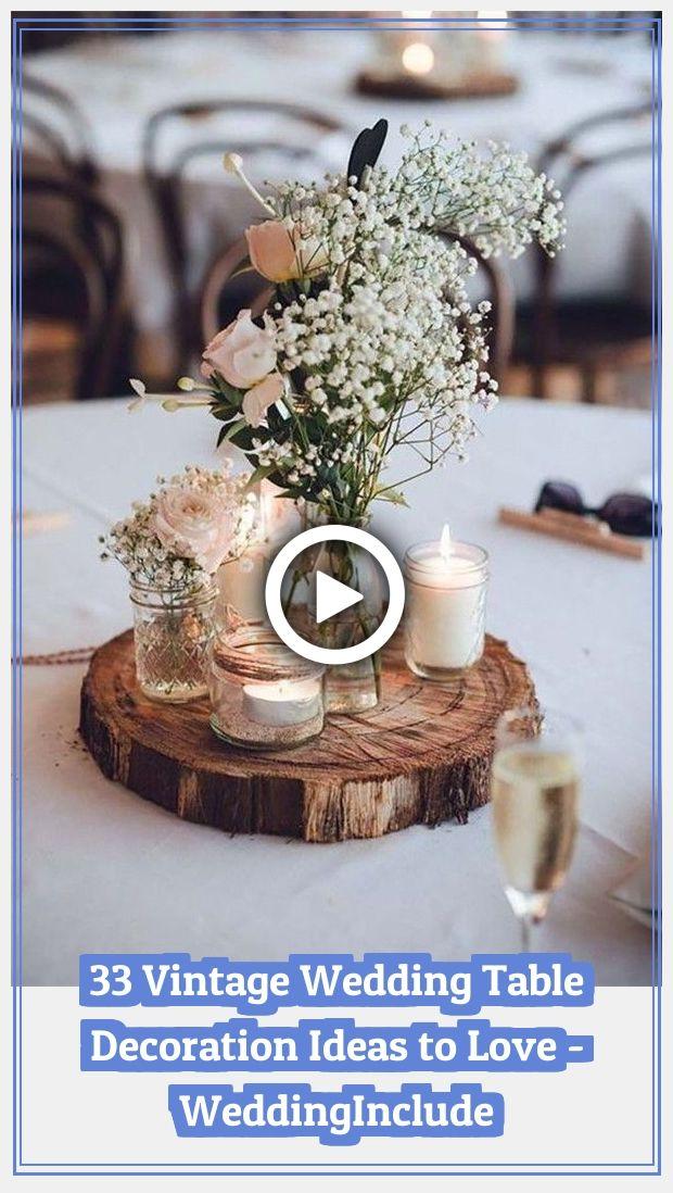 Rustic Wedding Decorations 16903 33 Vintage Wedding #TableDecoration Ideas to Love #weddingideas