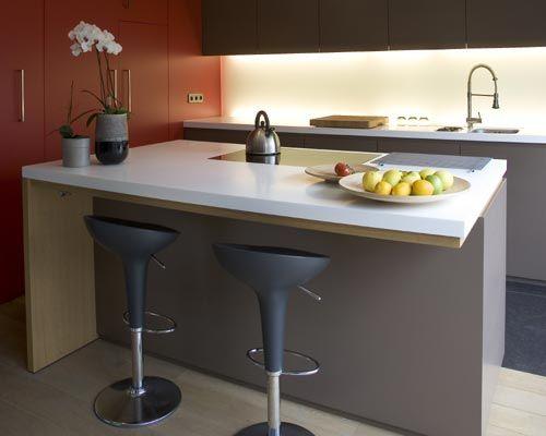 Barras y taburetes en la cocina cocinas decoradas - Taburetes barra cocina ...