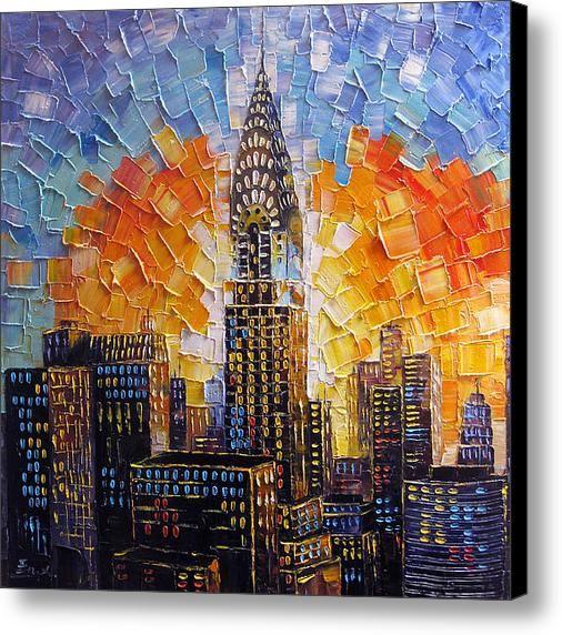 Chrysler Building New York City Canvas Print Canvas Art By Enxu