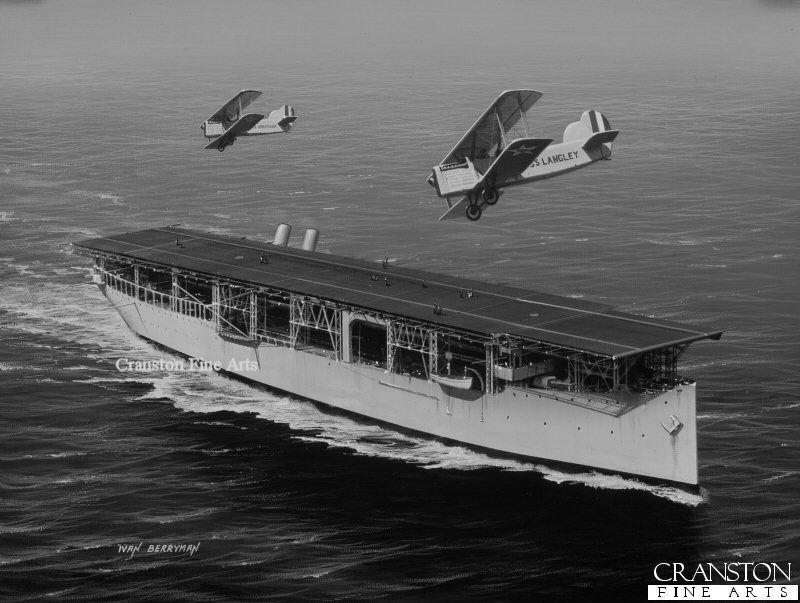 Uss Langley Cv1 True Aircraft Carrier The Uss Langley Cv 1 Is