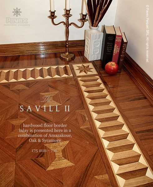 Hardwood floor borders: the SAVILL II pattern ...