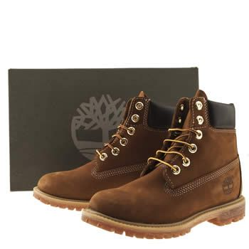 Womens Brown Timberland 6 Inch Premium Boots  8befea5940