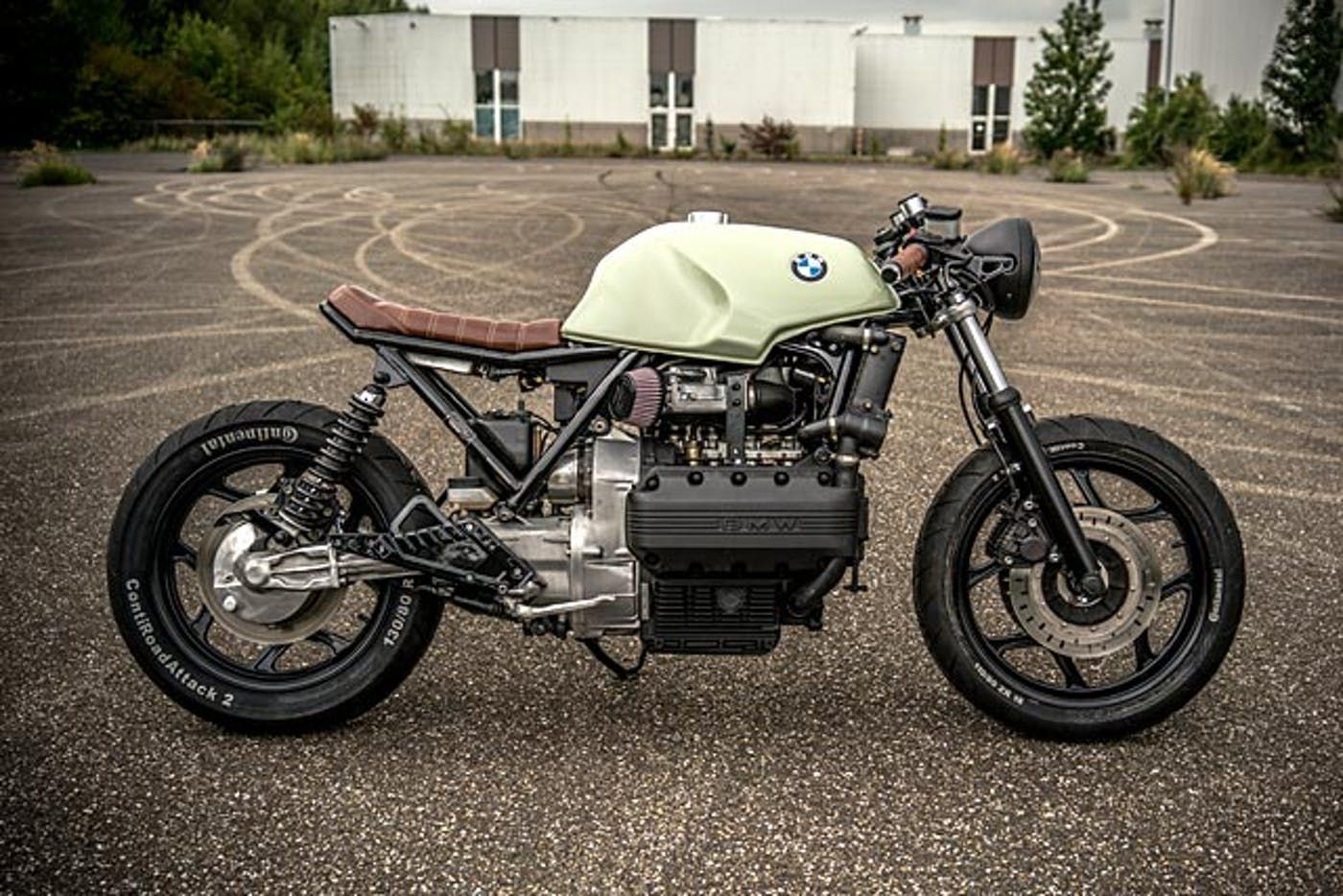 Big Brick Kicks Ironwood Custom S 86 Bmw K100 Cafe Racer K100