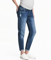 attractive fashion cheap for discount delicate colors MAMA Boyfriend Trashed Jeans | Denim blue | Ladies | H&M US ...