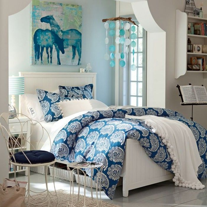 100 Girls\' Room Designs: Tip & Pictures | Blue bedroom decor ...