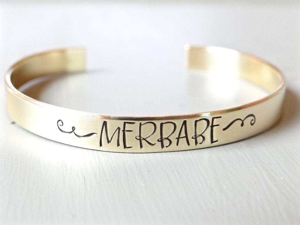 Merbabe cuff bracelet available in brass copper aluminum k