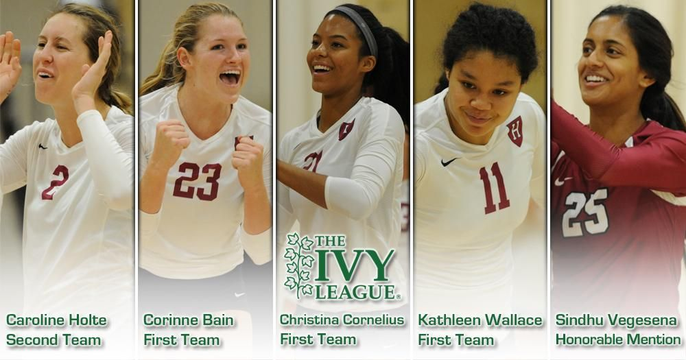 Cornelius Named Rookie Of The Year Five Crimson Receive All Ivy Honors Volleyball News One Team Kathleen