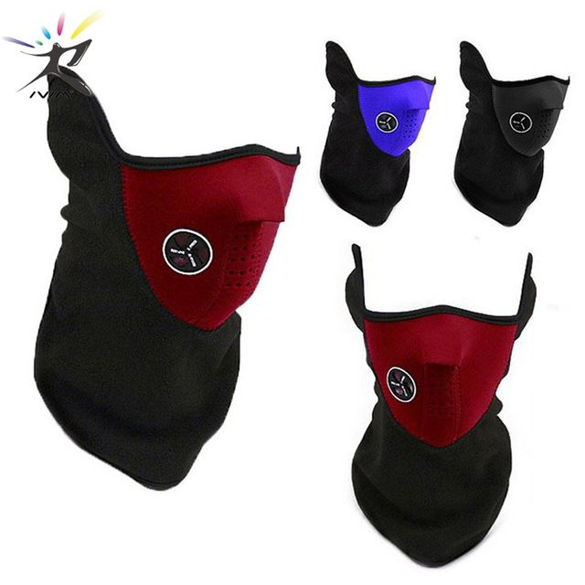 Ski Snowboard Motorcycle Bicycle Winter Sport Face Mask Neck Warmer Warm Red