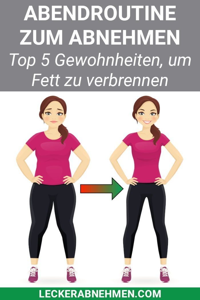 5 abendliche Gewohnheiten zum Abnehmen - Die perfekte Abendroutine -  Fitness und bewegung - #abendl...