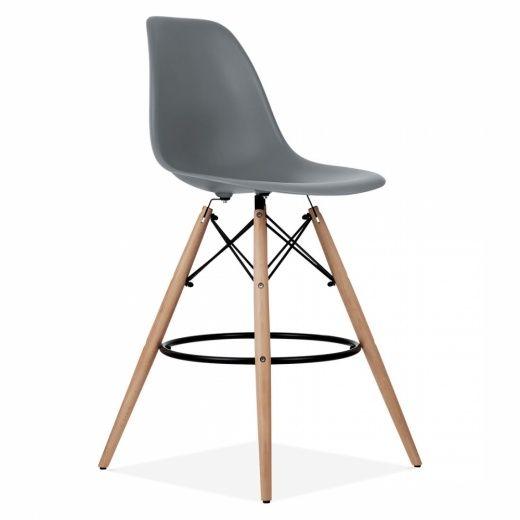Iconic Designs DSW Style Barhocker, Kunststoffsitz, Kühles