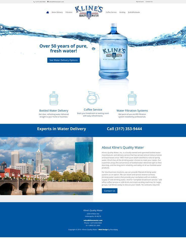 Kline S Quality Water Web Design Sample Roundpeg Indianapolis Small Business Web Design Corporate Web Design Portfolio Web Design