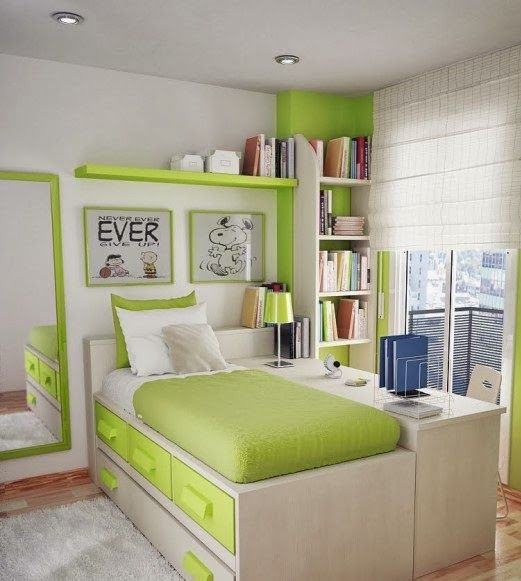 Minimalist girls bedroom design desain kamar tidur for Minimalist bedroom for teenager