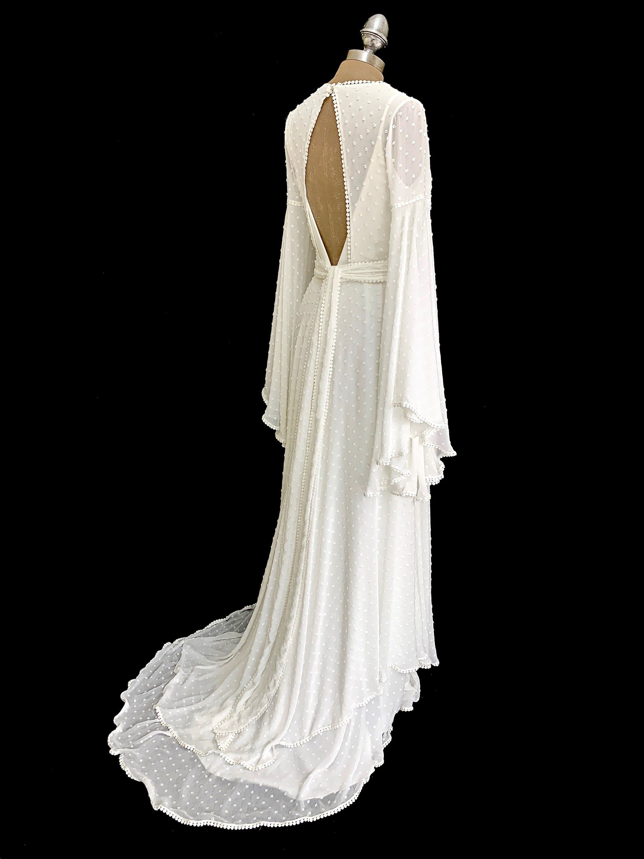 Boho Wrap Wedding Dress