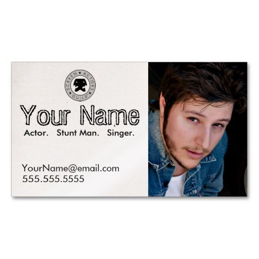 Headshot Business Card For The Working Actor Actor Actress