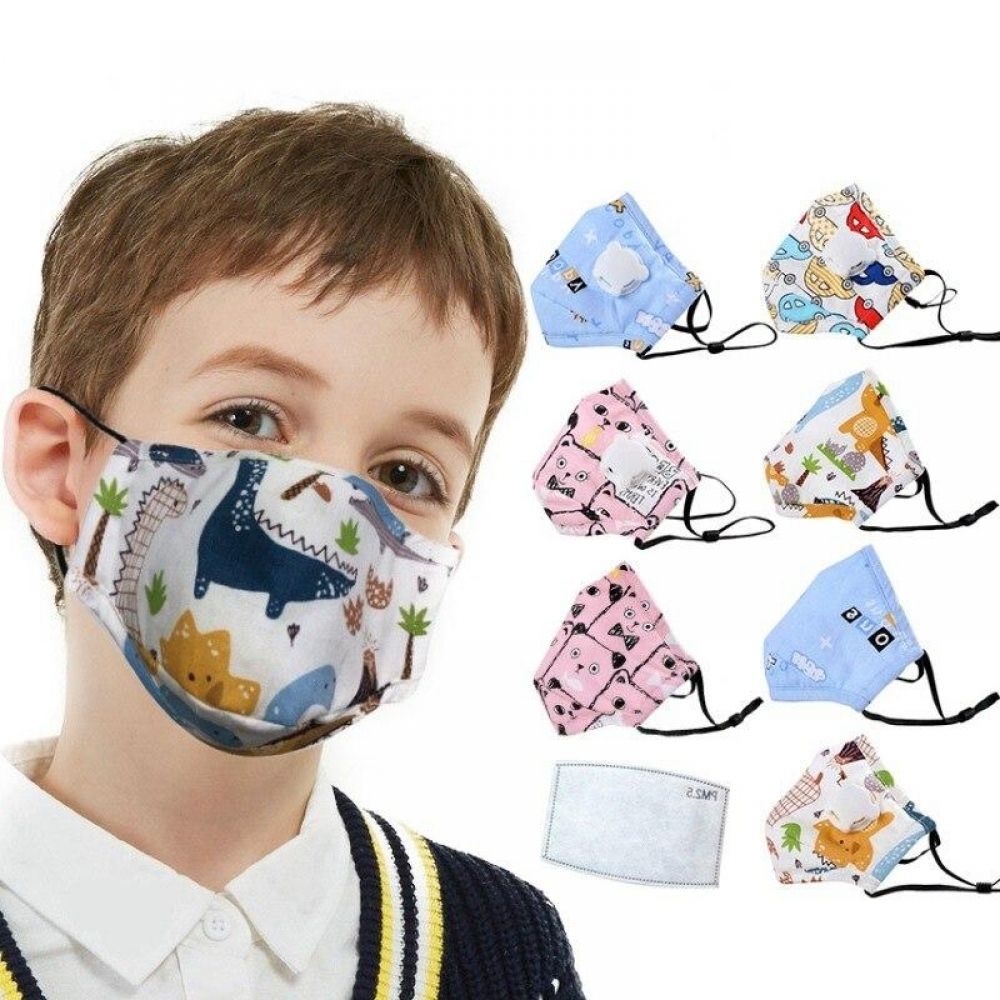Children Mouth Mask With Breath Design Replaceable Filter Anti