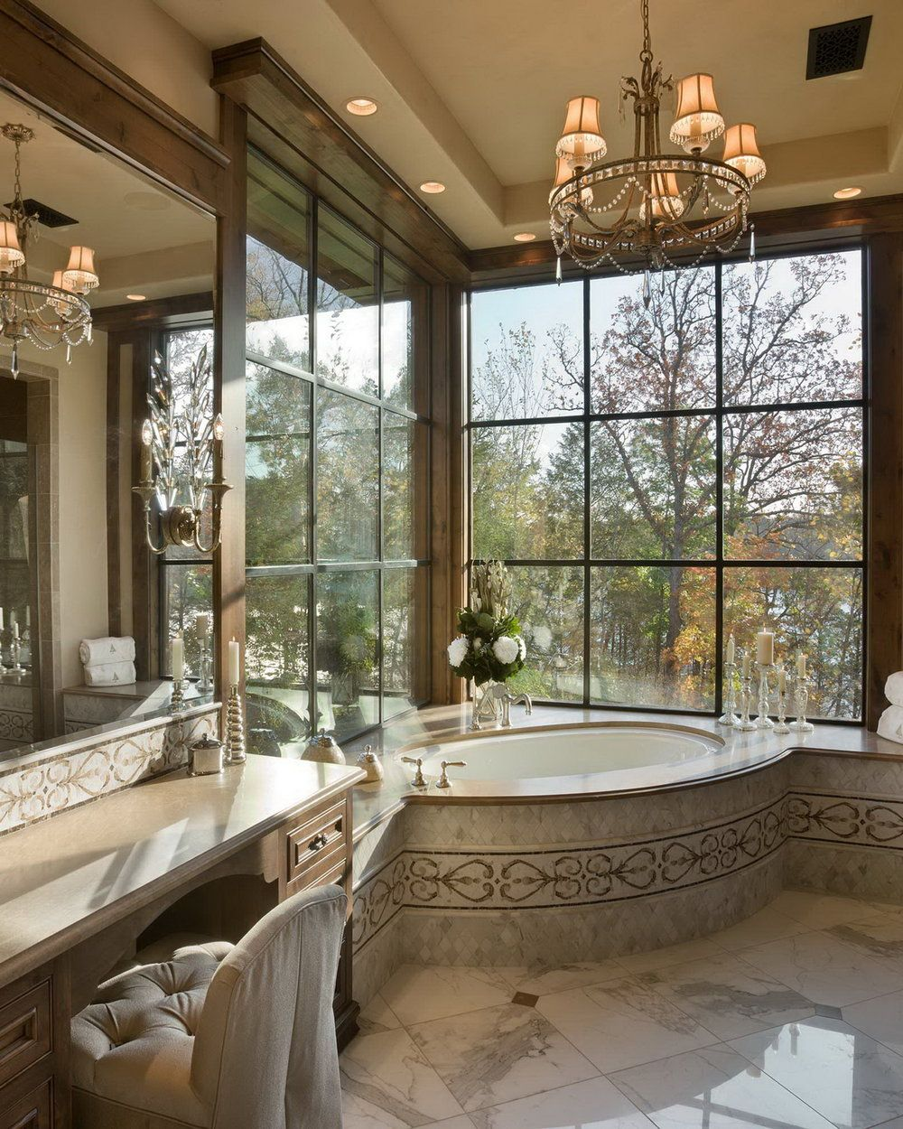 Chimney rock residence by locati architects rustichome cabin dream bathrooms beautiful also in bathroom ideas rh pinterest