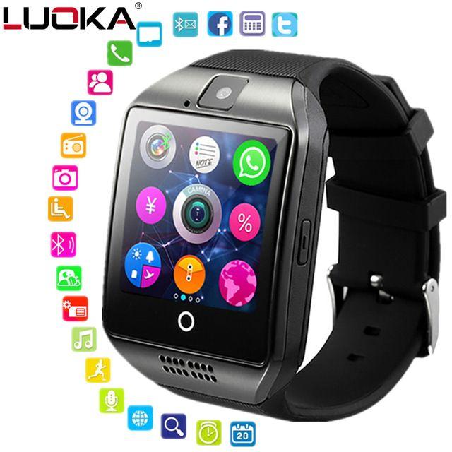 7d5369de0 Smart watch clock Q18 SmartWatch Support Sim TF Card Phone Call Push  Message Camera Bluetooth Connectivity