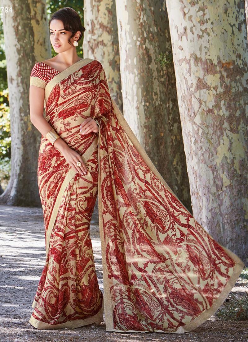 Regal Multi Colour Georgette Casual Saree