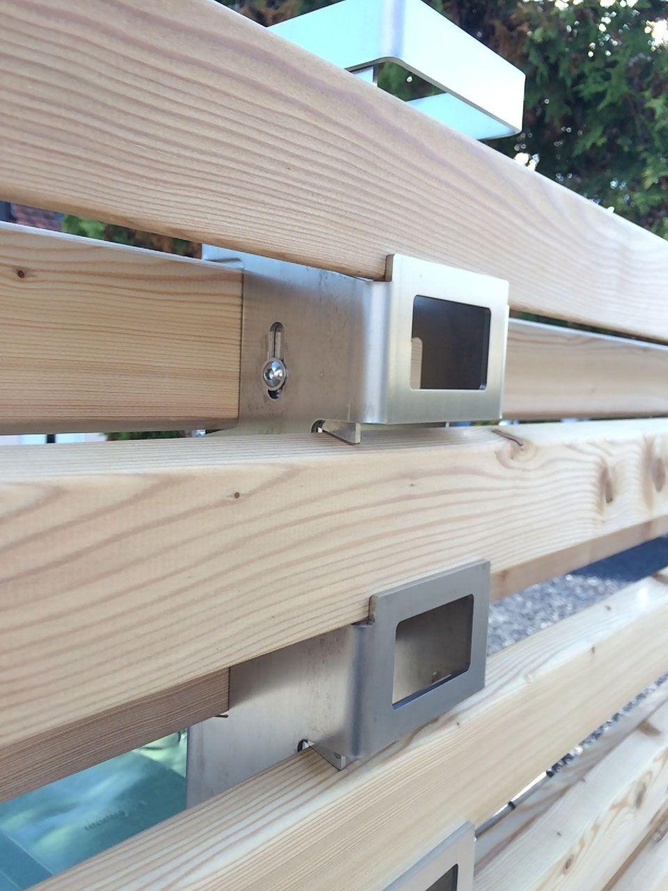 Sichtschutz Trigone Systemprofil Vorderseite Bauhöhe 180cm