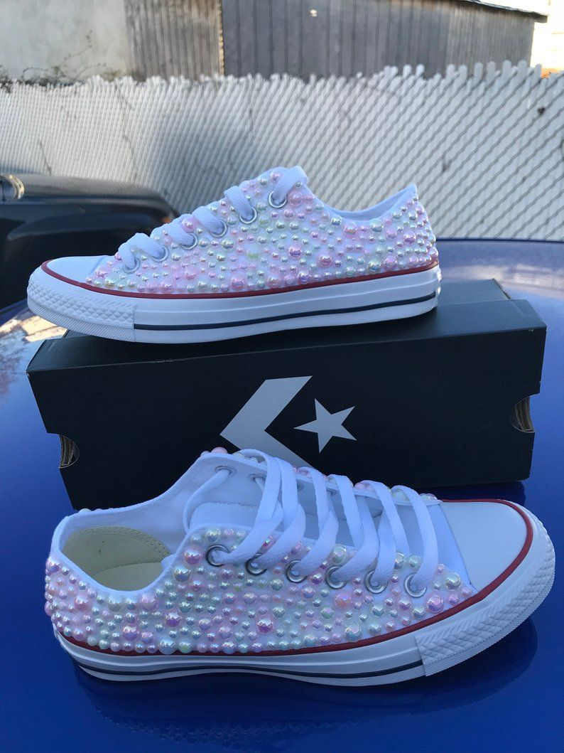 5556e0db71af Kids All Star Chuck Taylor with pearls all sizes