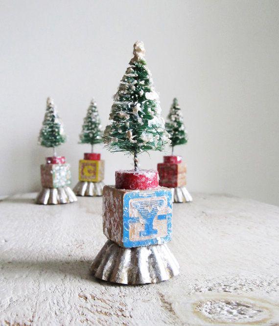 1000 Ideas About Bottle Brush Trees On Pinterest Putz Houses Glitter Houses And Christmas Vi Miniature Christmas Diy Christmas Tree Ornaments Christmas Diy
