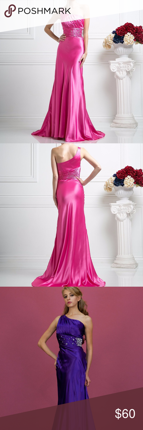 Cinderella Divine - Asymmetric Lace Sheath Evening Dress