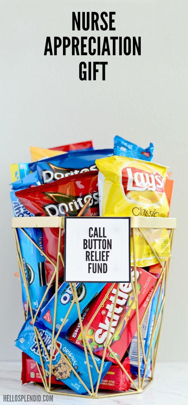 Nurse Appreciation Gift Call Button Relief Fund Hello Splendid Nurse Appreciation Gifts Nurses Week Gifts Diy Nursing
