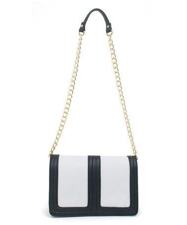489a00ea813d Black   White Color Block Shoulder Bag  zulilyfinds