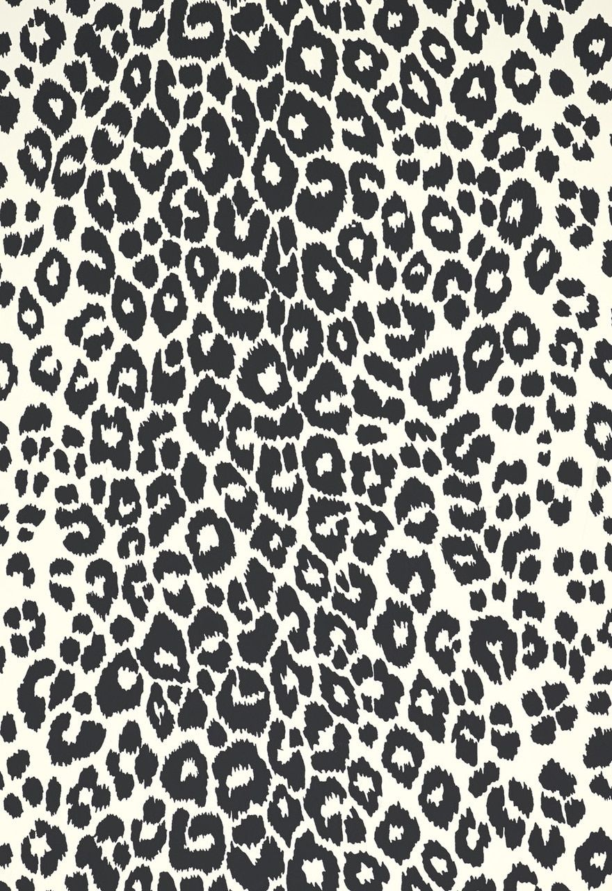 Schumacher Iconic Leopard Wallcovering In Graphite 5007012 Leopard Wallpaper Cheetah Print Wallpaper Wall Coverings