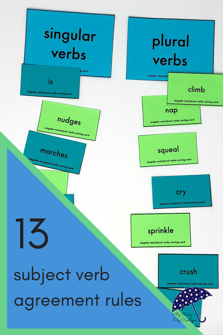 Learn 13 rules for subject verb agreement to enhance your grammar ...