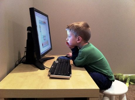 Young Kids And Technology At Home
